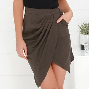 Obey Smith Envelope Skirt in Shark Grey NWT